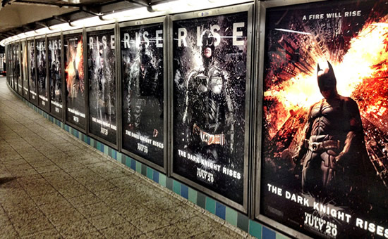 "Warner Bros goes all out with eye-catching and innovative ""The Dark Knight Rises"" billboards"