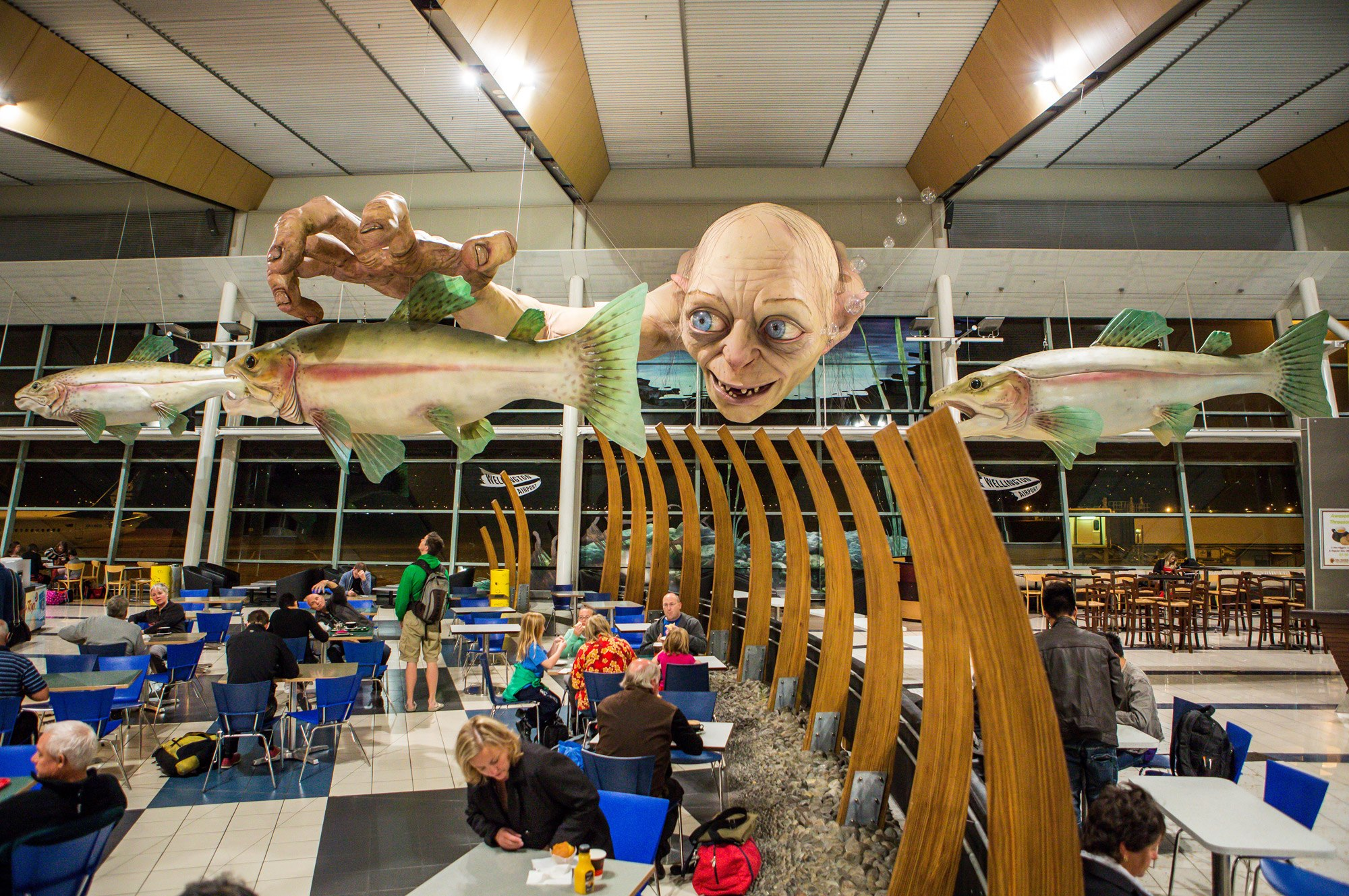 wellington-airport-biggest-gollum