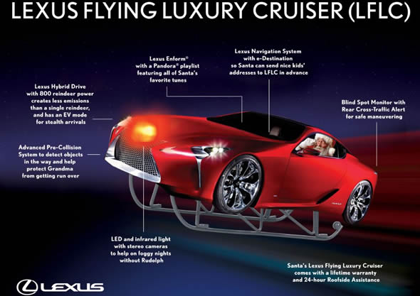 Lexus Gives Santa A New Ride The Flying Lf Lc Electric Car
