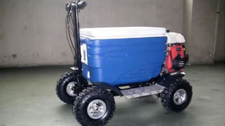 Drunken Australian Man Caught Driving Beer Cooler