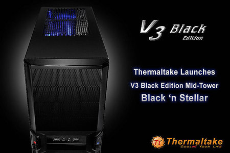 Thermaltake's V3 Black Edition Mid-Tower 'Black 'n Stellar'