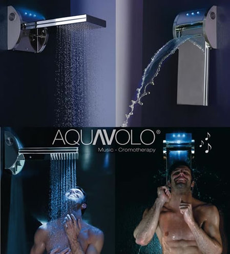 Bossini Mp3 Shower Head Plays Ipod Tracks On A Speaker