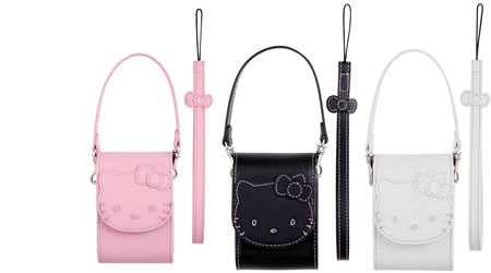 Hello Kitty Camera case set for compact digital cameras