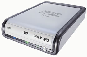 HP HD100 first USB 2.0 HD-DVD writer