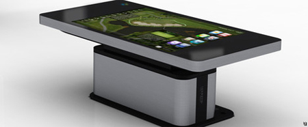 Hyundai it 70 inch table monitor looks like an over sized tablet pc coffee table - Table basse tablette ...