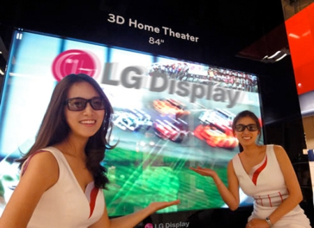 Lg S 84 Inch 3d Tv On Show