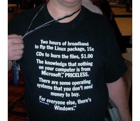 Linux Mastercard spoof T-Shirt