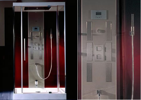 The all-in-one-shower cabin with Bluetooth connection – Luce |