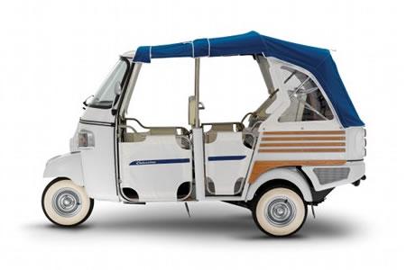 ape calessino is piaggio's new electric three wheeler |