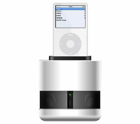 QDOS Genesis iPod dock with 360 deg sound