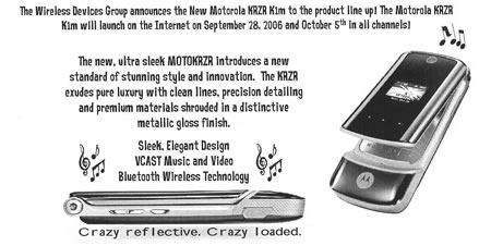 Motorola KRZR K1m available on Verizon