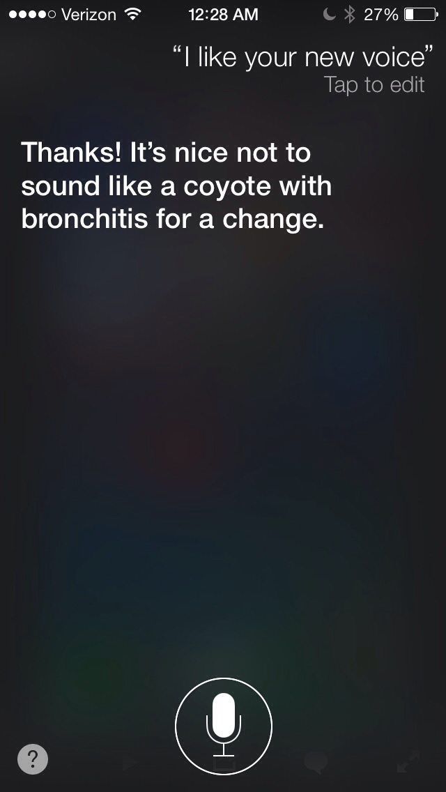 What Siri has to say about her new voice