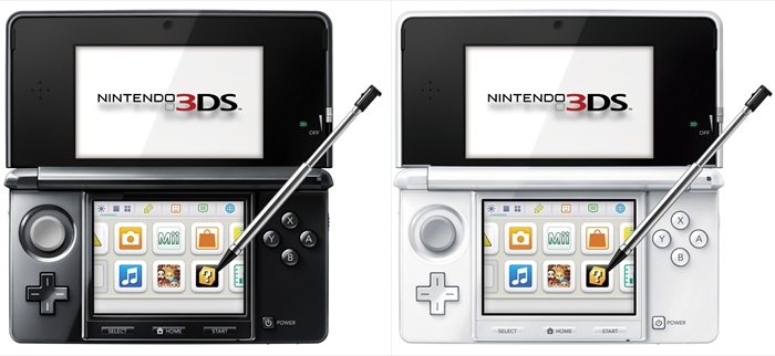 Nintendo 3DS gets two new colors – Pure White and Clear Black