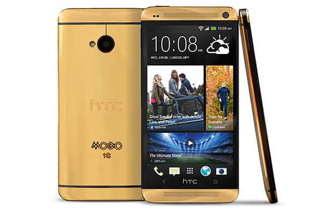 HTC One gets gilded and priced up to $4,400