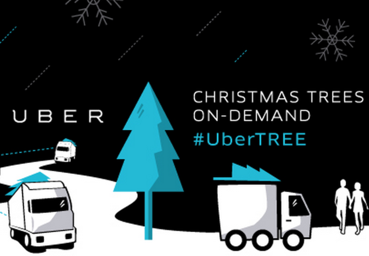 Uber mobile app ties up with Home Depot to deliver Christmas trees in the US for $135, only today!