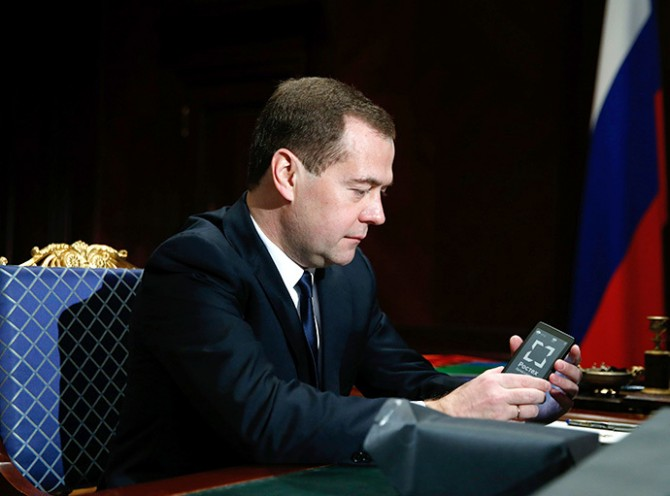 Dmitry Medvedev meets with Sergei Chemezov