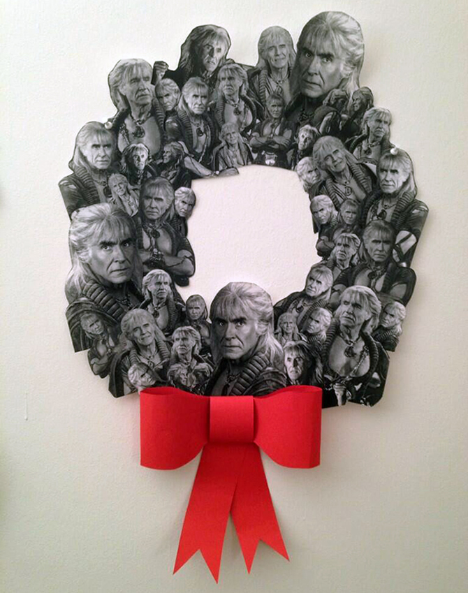 Khan Noonien Singh Christmas Wreath relives Star Trek fandom