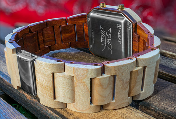 Tokyoflash Japan unveils the futuristically wooden Kisai Space Digits watch