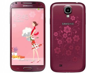 Samsung shows off red colored Galaxy S4 La Fleur Edition targeting female buyers