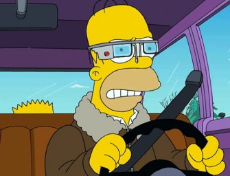 Homer Simpson dons the Google Glass in the latest episode to create a hilarious social satire
