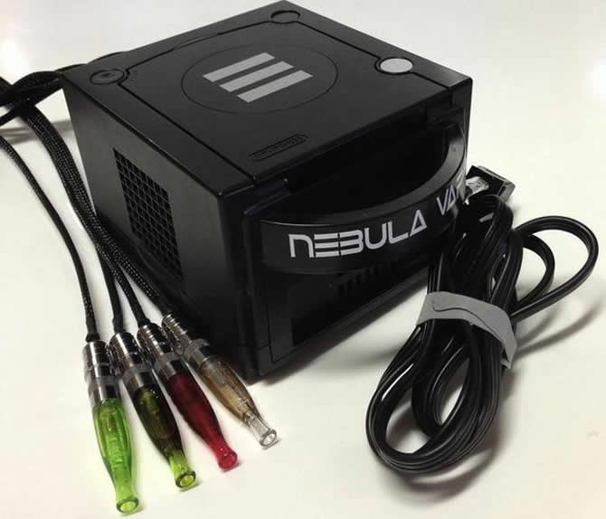 VapeCube, a modified gaming console that you can smoke