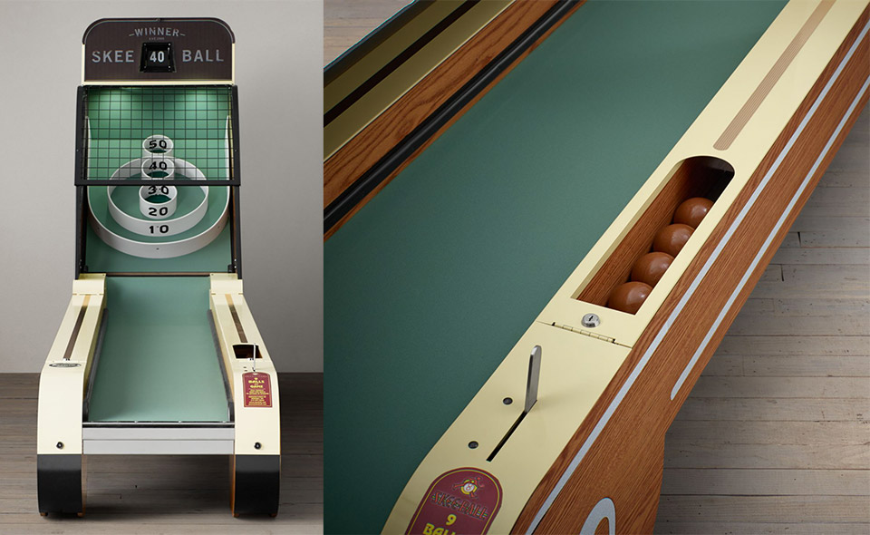 Vintage oak Skee-Ball machine from grandpa's era up for sale for $6,995