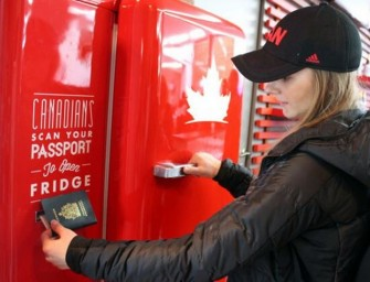 Beer fridge at Winter Games opens only with Canadian passports