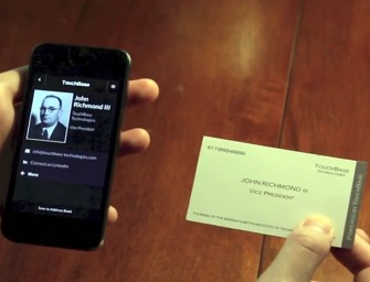 TouchBase develops business card with Data Transferring Paper
