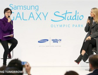 Samsung shows off its flagship Galaxy Studio for 2014 Winter Olympics