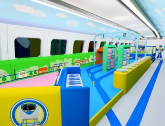Takara Tomy and Panasonic design a kids only coach for the Bullet Train