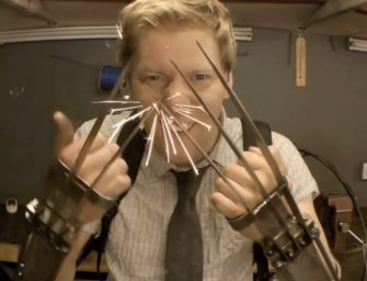 This air-powered functional Wolverine claws is the coolest movie prop ever