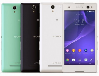 Sony unveils the world's first selfie-friendly smartphone with a front flash, the Xperia C3