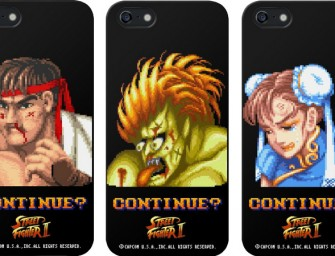 An iPhone case featuring defeated Street Fighter II warriors