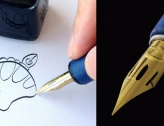 A titanium nibbed pen specially created for Manga artists