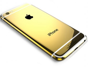 Gold coated and Swarovski studded iPhone 6 by Goldgenie now available
