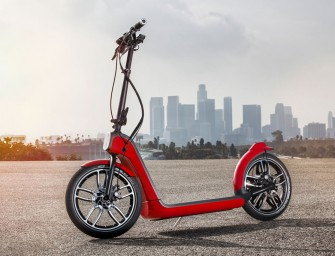MINI exhibits foldable electric scooter Citysurfer at Los Angeles Auto Show