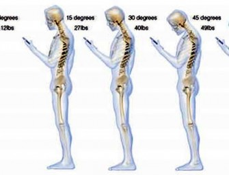 Hunching while texting could harm your Spine