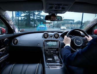 Jaguar's 360 Virtual Urban Windscreen turns the car into an information capsule