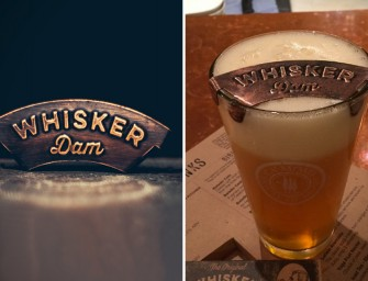 Whisker Dam beverage moustache protector is what you've always wanted