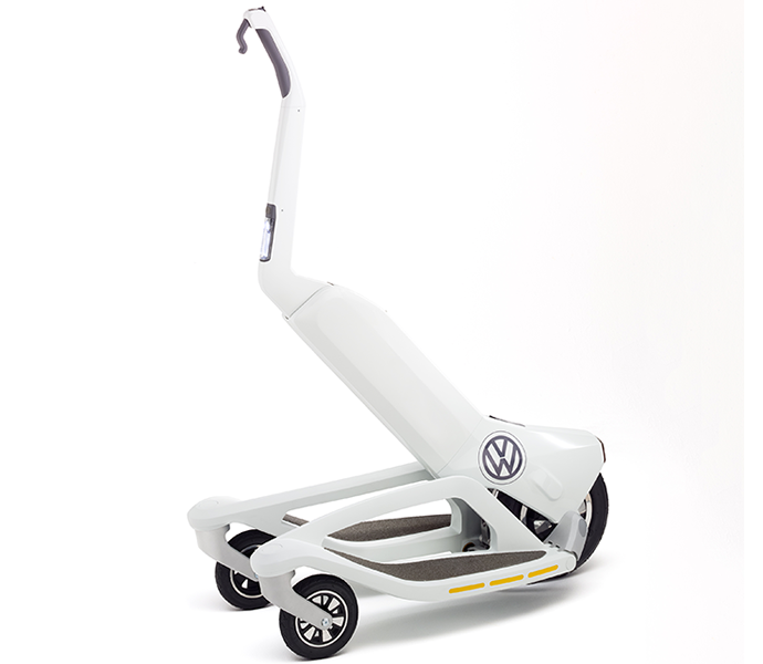 Vw S Segway Competitor A Foldable Electric Scooter To