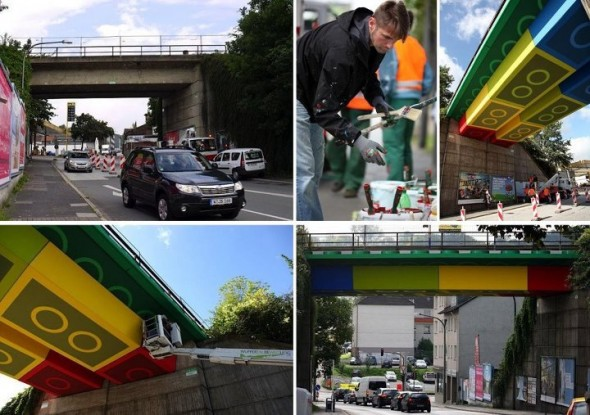 Germany Gets A Train Bridge Pass Resembling Lego Bricks