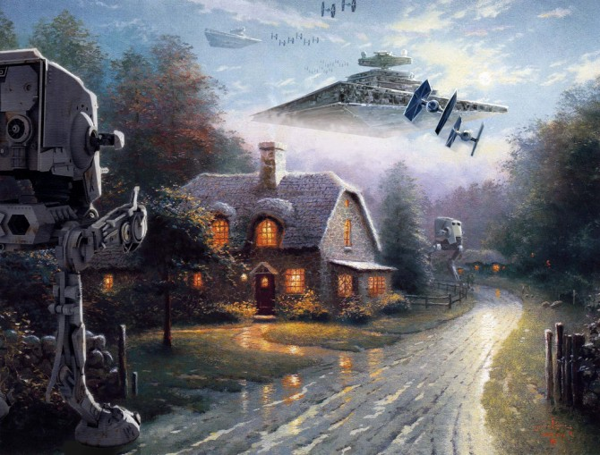 Thomas Kinkade Paintings Look Even Better When Mashed With