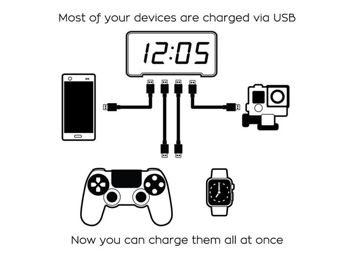 Sandman-clock-offers-4-USB-charging-ports-2
