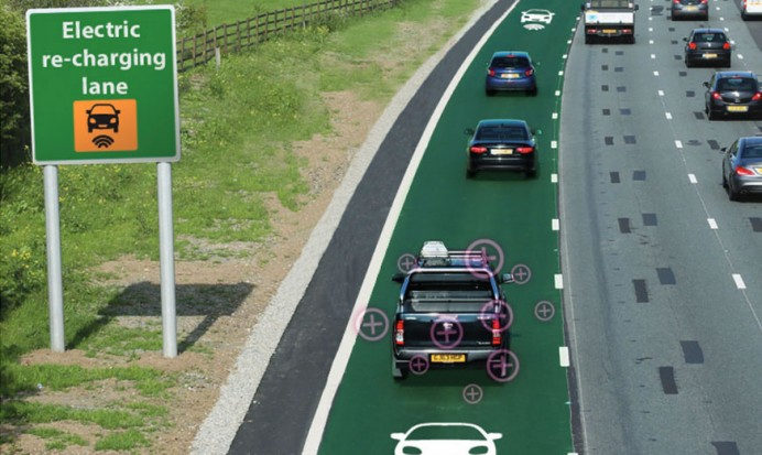 Highways England plans roads that charge hybrids 2