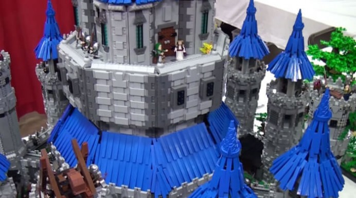Lego and Legend of Zelda fan recreates the Hyrule Castle 4