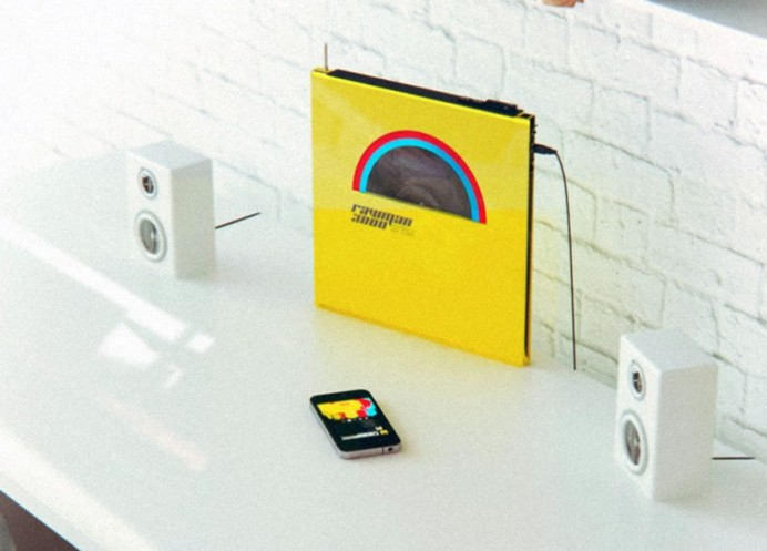vinyl with rocket and wink portable player 4